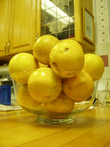 A bowl of yellows
