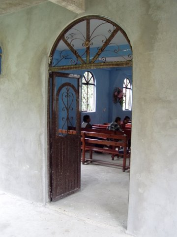 Door to church building in Matlapa